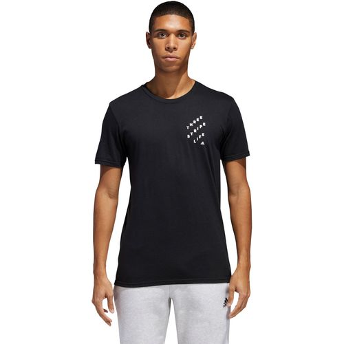 adidas Men's Three Stripe Life OP ART T-shirt - view number 3